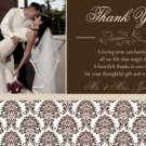 Damask Wedding Save the Date Thank You Card Invitation Engagement Party