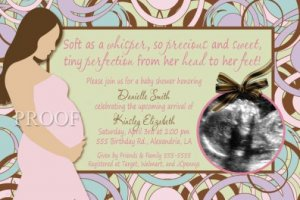 Parenthood Baby Shower Invitation Ultrasound Party Goods Supplies