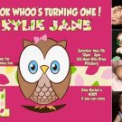 Look Whoo's Turning One OWL 1st Birthday Invitations