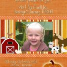 Pumpkin Farm Photo Birthday Invitations Thank You Cards