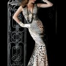 Jovani 196620 Beige Animal Print Prom Pageant Dress Sz.8