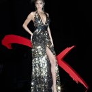 Xcite Prom 3725 Halter Full Sequins Empire Wast Evening Dress