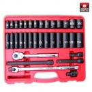 "34 Pcs 1/2"" Dr. Hi-Viz Impact Socket & Accessory Set (Sae) - Nk # 02469A"