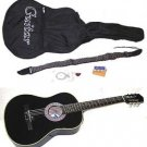 """38"""" Black Acoustic Guitar With Accessories - GA3810R-BK"""