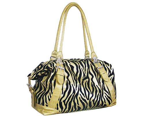 Synthetic Suede with Zebra Textured (Gold)