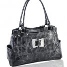 High Quality Synthetic Python Leather Look Handbag (Pewter)