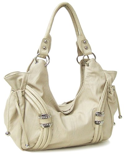 Two Side Pockets with Drawstring Pull Detail (Natural)