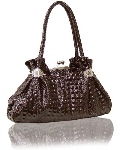 High Quality Bubble Textured Croc Leather Look (Camel)
