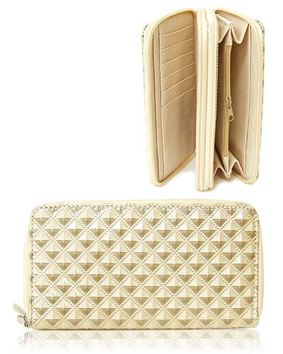 Two Zip-Around Wallet (Ivory)