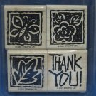 STAMPIN UP 2001 THANK YOU BLOCKS STAMPS SET 4 RETIRED