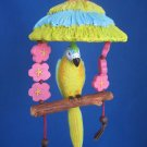 Tropical Parrot Bird Tiki Swing Christmas Ornament New