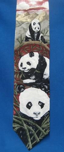 PANDA Luncheon Endangered Species Silk Tie Marc Dennis