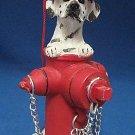 DALMATIAN DOG FIRE HYDRANT CHRISTMAS ORNAMENT NEW CUTE