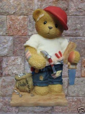 CHERISHED TEDDIES WOODY CARPENTER BEAR 476544 MIB NEW