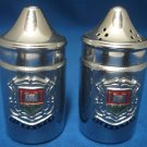 VINTAGE GIBRALTAR SOUVENIR SALT PEPPER SHAKERS METAL