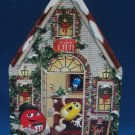 M&M M&Ms CHRISTMAS VILLAGE TEA HOUSE TIN CANISTER