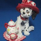 DISNEY DALMATIAN PUPPY SPOT OF TEA FIGURINE ENESCO CUTE