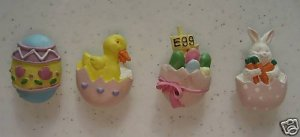 EASTER EGGS CHICK BUNNY SPRING HOLIDAY BUTTON COVERS 4