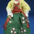 POLISH GORALKA REGIONAL DOLL FIGURE HAND MADE POLAND NR