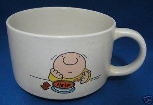 Tom Wilson ZIGGY Alphabet Noodle Soup Mug Cup Vintsnage