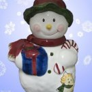 Christmas Twilight SNOWMAN Cookie Biscuit Treat Jar