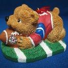 Football Teddy Bear Avon Sports Christmas Ornament MIB