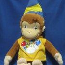 Curious George Monkey Happy Birthday Plush Animal New