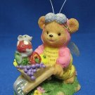 ADORABLE HONEY BEE TEDDY BEAR GARDENING FIGURINE STATUE