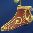 GINGERBREAD DREAMS VINTAGE SHOE ORNAMENT ASHTON DRAKE