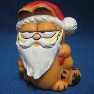 VINTAGE GARRIELD CAT SANTA CHRISTMAS PVC FIGURINE 1978