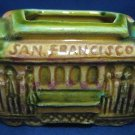 SAN FRANCISCO SOUVENIR CABLE CAR TOOTHPICK HOLDER CALIF