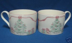SANGO HOME FOR THE HOLIDAYS 2 CUPS CHRISTMAS DINNERWARE
