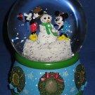 DISNEY CLASSIC MICKEY MINNIE LIGHT UP SNOWGLOBE NIB NR