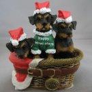 ROTTWEILER ROTTIE PUPPY DOGS SANTA HATS ORNAMENT NEW