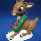 RUDOLPH RED NOSED REINDEER CHRISTMAS ORNAMENT NIB MINT