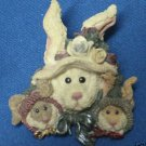 BOYDS BEARS HARES RABBITS BUNNIES BROOCH LAPEL PIN CUTE