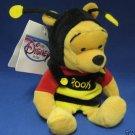 DISNEY BUMBLE BEE POOH BEAN BAG PLUSH MWT 1st EDITION