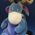 DISNEY STORE REINDEER EEYORE PLUSH CHRISTMAS ADORABLE