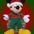 DISNEY MICKEY MOUSE CHRISTMAS PLUSH COLLECTIBLE HOLIDAY