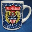 POLICE OFFICER PATRON SAINT MICHEAL MUG CUP BADGE NEW