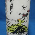 Southern Belle Frosted White Ice Tea Glass Tumbler Vtg