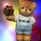 LUCY & ME BOY BEAR WITH GIFT CHRISTMAS FIGURINE 110566