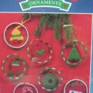 PLASTIC CANVAS CHIRSTMAS RINGS ORNAMENTS CRAFT KIT NIP