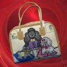Poodle Puppy Dog Lover Beads Sequins Purse Handbag NEW
