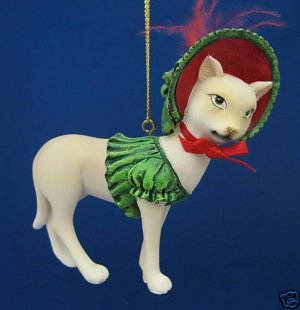 SPHYNX CANADIAN HAIRLESS KITTY CAT CHRISTMAS ORNAMENT