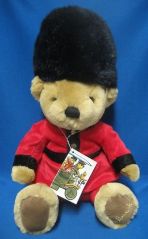 Harrods London Royal Guard Plush Teddy Bear Stuffed MWT