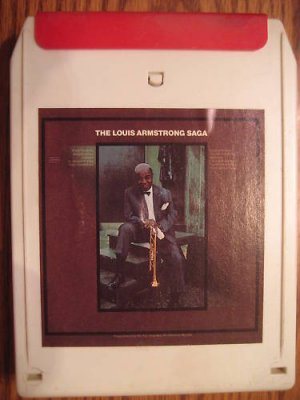 Louis Armstrong Saga 8 Track Tape Open As Is Vtg 1976