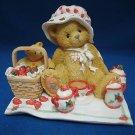 CHERISHED TEDDIES COZY TEA FOR TWO FIGURINE 156302 MIB