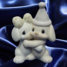 PRECIOUS MOMENTS LETS BE FRIENDS PUPPY DOGS FIGURE MIB
