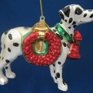 DALMATIAN FIRE DOG GLASS CHRISTMAS ORNAMENT NEW MINT